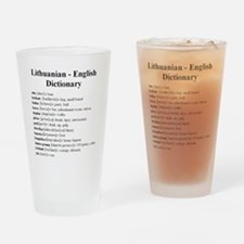 Unique Lithuanian Drinking Glass