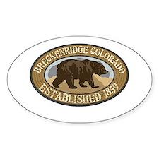 Breckenridge Brown Bear Badge Decal
