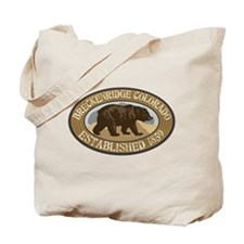 Breckenridge Brown Bear Badge Tote Bag