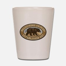 Breckenridge Brown Bear Badge Shot Glass