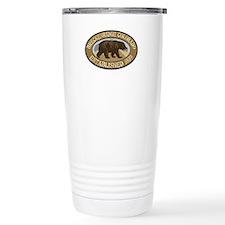 Breckenridge Brown Bear Badge Travel Mug