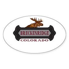 Breckenridge Fleur de Moose Decal
