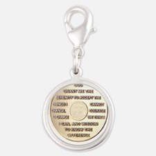 SERENITY COIN Silver Round Charm
