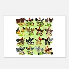 16 Chicken Families Postcards (Package of 8)