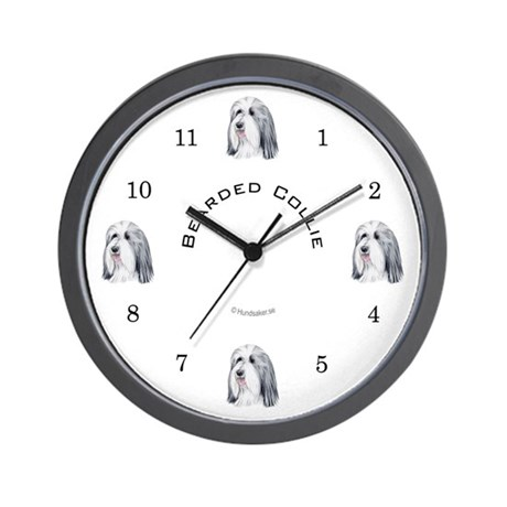 Bearded Collie Wall Clock