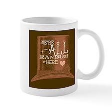 We're All Random Here logo Mug