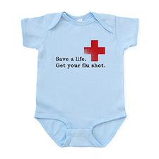 Get your flu shot Infant Bodysuit