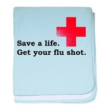 Get your flu shot baby blanket