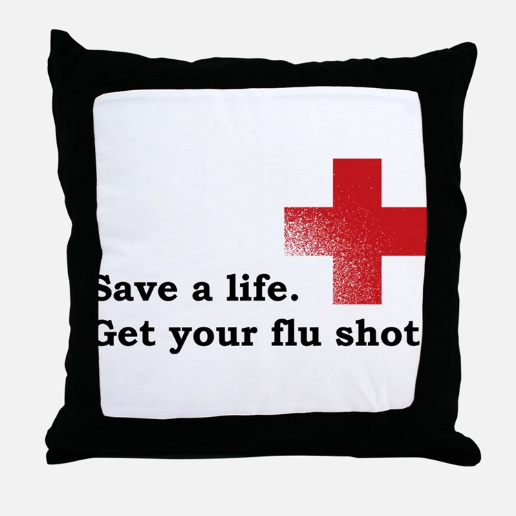 Get your flu shot Throw Pillow