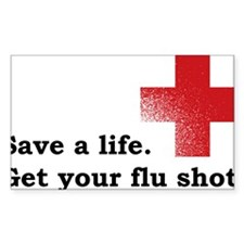 Get your flu shot Decal