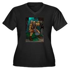 Dwarven Adventurer Women's Plus Size V-Neck Dark T