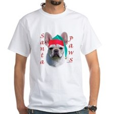 Santa Paws white French Bulldog Shirt