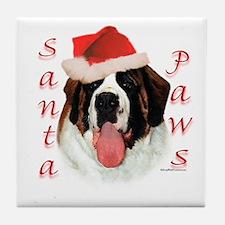 Santa Paws Saint Bernard Tile Coaster
