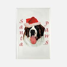 Santa Paws Saint Bernard Rectangle Magnet