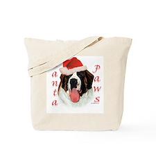 Santa Paws Saint Bernard Tote Bag