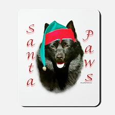 Santa Paws Schipperke Mousepad