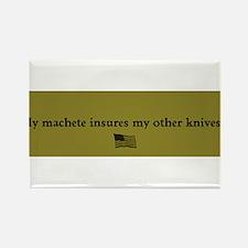Knife Insurance Rectangle Magnet