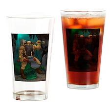 Dwarven Adventurer Drinking Glass