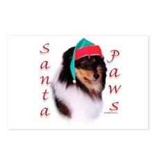 Santa Paws Sheltie Postcards (Package of 8)