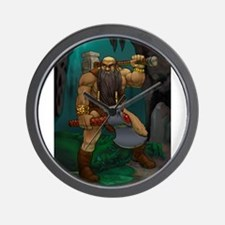 Dwarven Adventurer Wall Clock