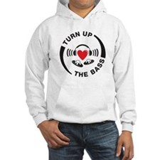 DJ turn up the bass red and black design Jumper Hoodie