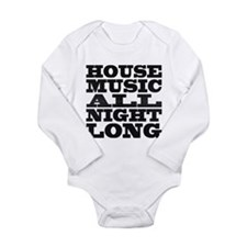 House Music All Night Long Body Suit