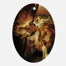 Mourning of Icarus Oval Ornament