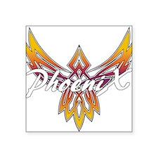 "Phoenix Band Logo Square Sticker 3"" x 3"""