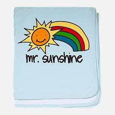 Mr. Sunshine baby blanket