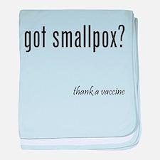 got smallpox? baby blanket