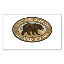 Estes Park Brown Bear Badge Decal