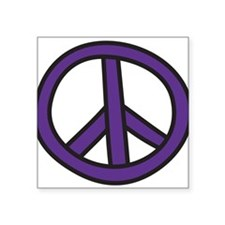 "Peace Sign Square Sticker 3"" x 3"""