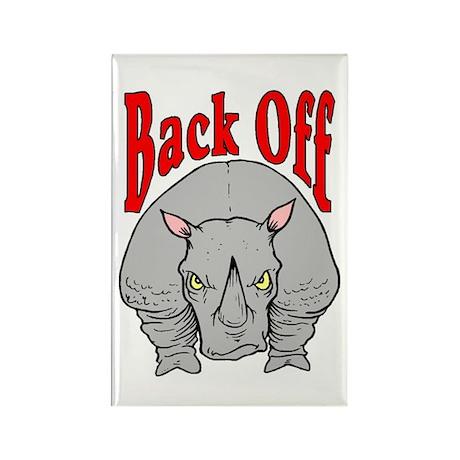 Rhino: Back Off Rectangle Magnet