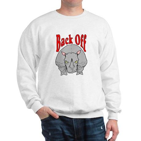 Rhino: Back Off Sweatshirt