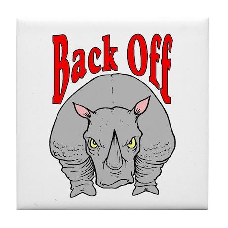 Rhino: Back Off Tile Coaster