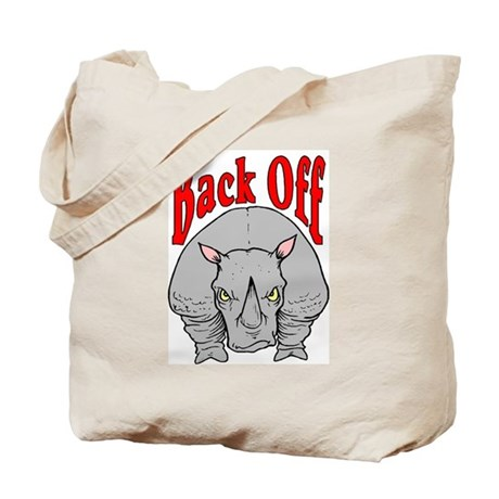 Rhino: Back Off Tote Bag