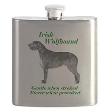 Irish Wolfhound Gentle when stroked Flask