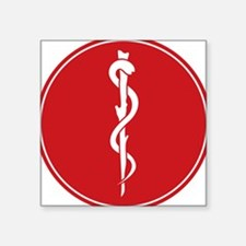 """Rod of Asclepius Seal Square Sticker 3"""" x 3"""""""