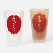 Rod of Asclepius Seal Drinking Glass