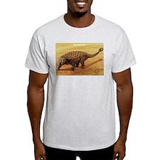 Pinacosaurus Dinosaur (Front) Ash Grey T-Shirt