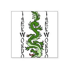 """Taekwondo Square Sticker 3"""" x 3"""""""