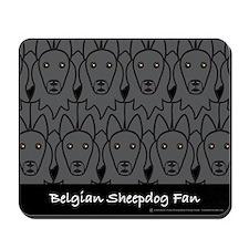 Belgian Sheepdog Fan Mousepad