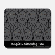 Belgian Sheepdog Fan Mousepad