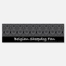 Belgian Sheepdog Fan Bumper Car Car Sticker