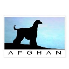 Afghan Hound Blue Sunset Postcards (Package of 8)