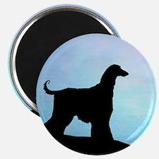 Afghan Hound Blue Sunset Magnet