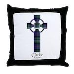 Cross - Clerke of Ulva Throw Pillow