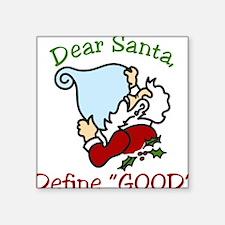 """Dear Santa Square Sticker 3"""" x 3"""""""