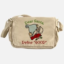 Dear Santa Messenger Bag