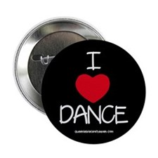 I HEART DANCE Button